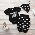 Handsome Like Dad Outfit-3
